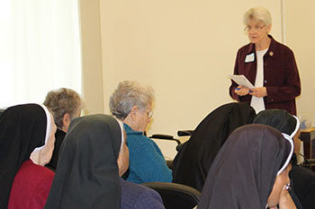 Sisters attend Morning of Reflection at the Pax Christi Liturgical Center