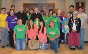 Bishop joins more than 600 students for lunch in Kingsville