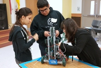 St. John Paul II High School STEM Club hosts robotics competition