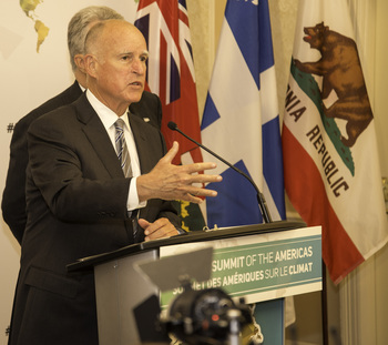 California governor, former Jesuit novice, carried 'Laudato Si'' to climate summit