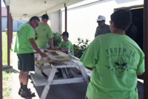 Hebert builds picnic tables  <div>  for Eagle Scout project </div>