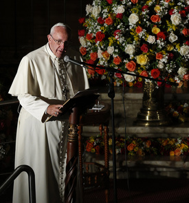 In democracy, all groups must have voice, pope tells Ecuadorean leaders