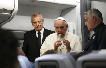 Pope says he'll read critiques of his economic thought before coming to United States