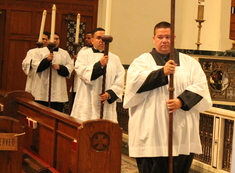 Bishop celebrates Burse Mass, hosts dinner for seminarians