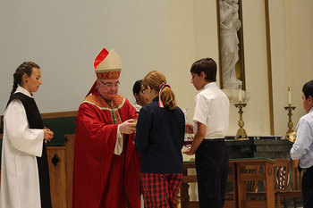 Bishop welcomes students to new school year