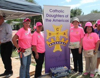 Catholic Daughters break ground on Habitat for Humanity home