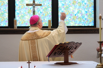 Bishop Mulvey celebrates first Mass and blesses Catholic Charities Chapel