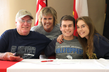 Senior signs letter of intent to join St. Edward's Golf Team