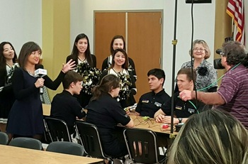 JPII students answer trivia questions on Channel 3