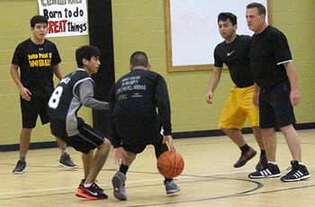 St. John Paul II faculty downs students in basketball game