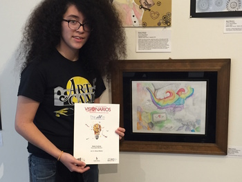 Cortinas receives honorable mention for art entry