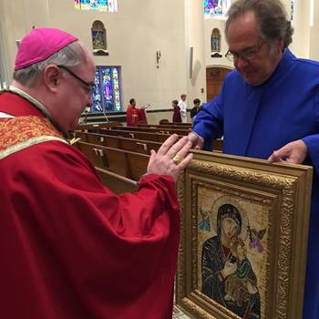 Mosaic of Our Lady of Perpetual Help receives bishop's blessing