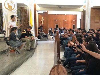 Eighth grade students were Centurion's for a day