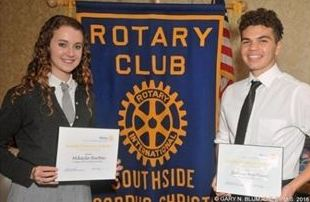 Rotary recognizes Burton,  <br />Martinez as top students