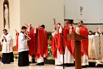 Confirmations began at  <br />Corpus Christi Cathedral last weekend