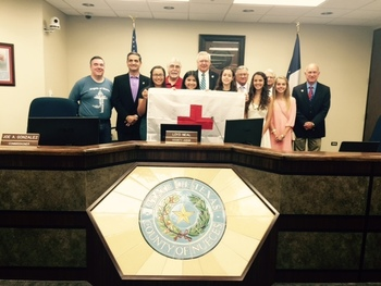 Nueces County Commissioners recognize IWA Mission Team
