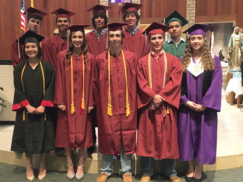 St. Pius X Alumni honored <div>  at Baccalaureate Mass </div>