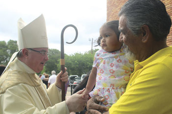 Mother's Day with Bishop Mulvey at Our Lady of Guadalupe in Sinton