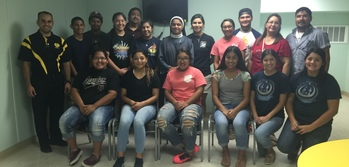 Sacred Heart Youth Group volunteers at homeless shelter