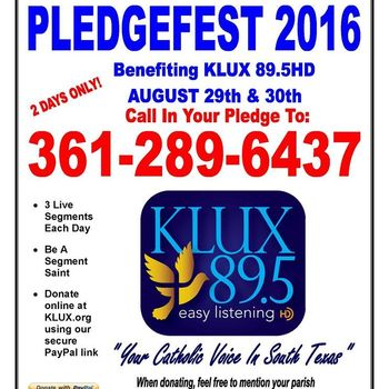 KLUX hosting annual on-line fundraiser