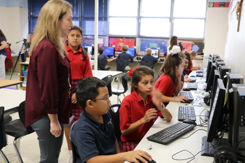 Students learn to navigate robots using Ozobot