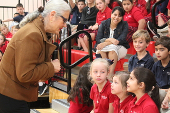 Author speaks to students about her new book