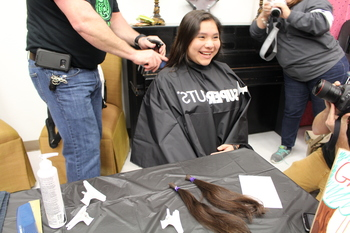 Students get clipped for Cancer