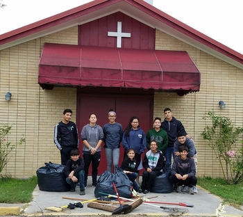 St. Michael the Archangel youth perform community service during Spring Break