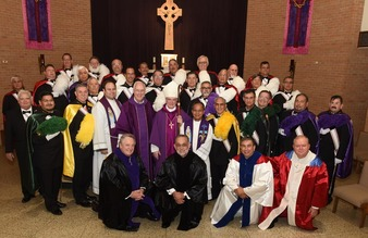 68 men received into Knights  <br />of Columbus Fourth Degree