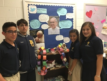 Bishop Garriga students, teacher fans of Pope Francis