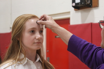 Students celebrate Ash Wednesday with Mass