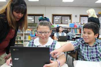 Chromebooks open new world to Sacred Heart students