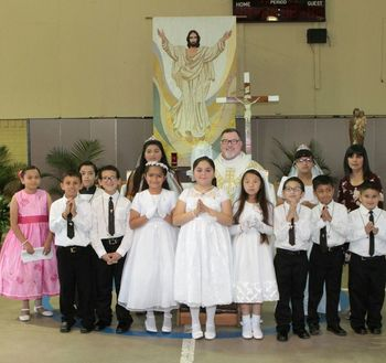 10 students receive First Communion at St. Anthony's