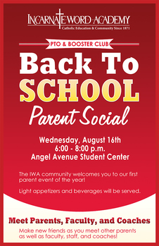 PTO & Booster Club Back to School Parent Social