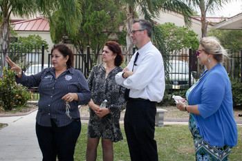 NCEA president tours hurricane affected schools