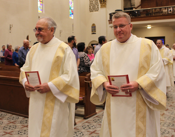 Bishop Mulvey celebrates Mass for deacons