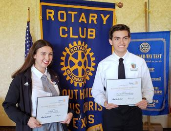 Students honored at Rotary Club meeting