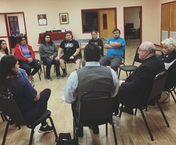 Bishop meets with youth and young adults to discuss the Pre-Synod survey