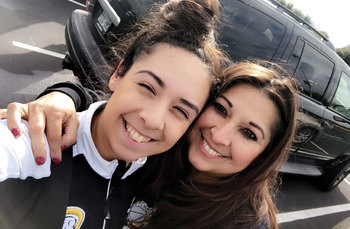 Mother and daughter blessed by Catholic schools