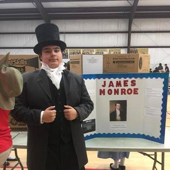 Students present historical characters at American History Museum