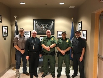 Bishop meets Border Patrol in Falfurrias