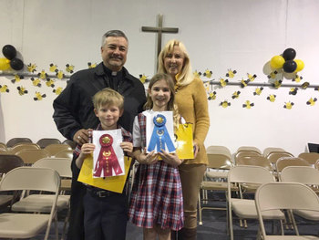 Spelling Bee Champions at Sacred Heart School