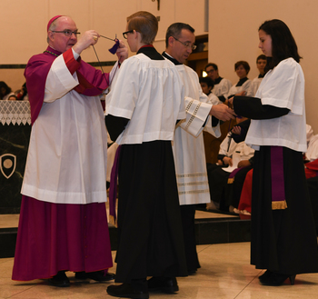 Altar servers recognized for years of service