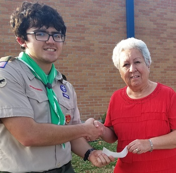 Scout project corrects erosion and raises funds for Bishop Garriga Middle Preparatory School