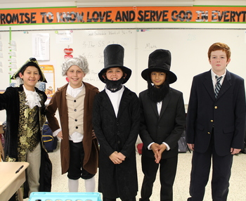 St. Patrick students Dress-Up Day for NCSW