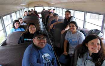 Holy Family youth CONNECT and serve Port Aransas community
