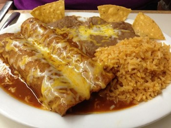 Cheese Enchilada Lenten Plates