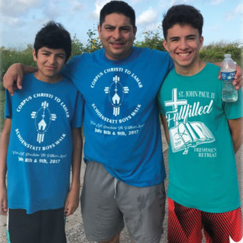 Fathers and sons join the Schoenstatt pilgrimage, July 13-14