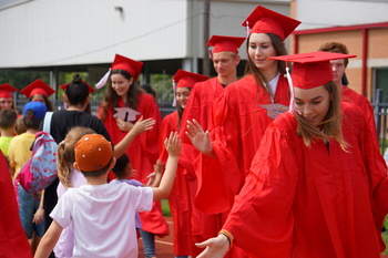 Class of 2019 paraded through IWA Elementary and Middle Levels