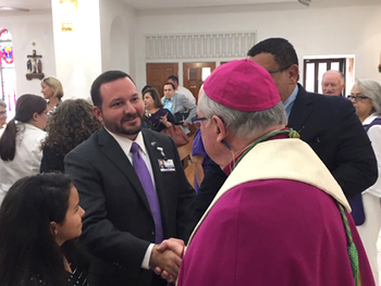 Bishop leads prayer service at commissioning of newest CHRISTUS Spohn president